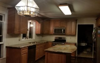 tan kitchen with granite tops
