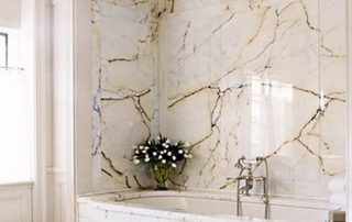Bathroom marble finish