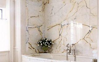 Bathroom marble finish