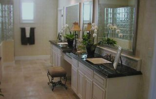 bathroom with granite countertop