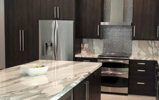 white kitchen with granite tops