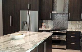 white kitchen with granite tops