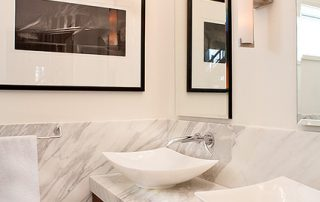 white bathroom with sink